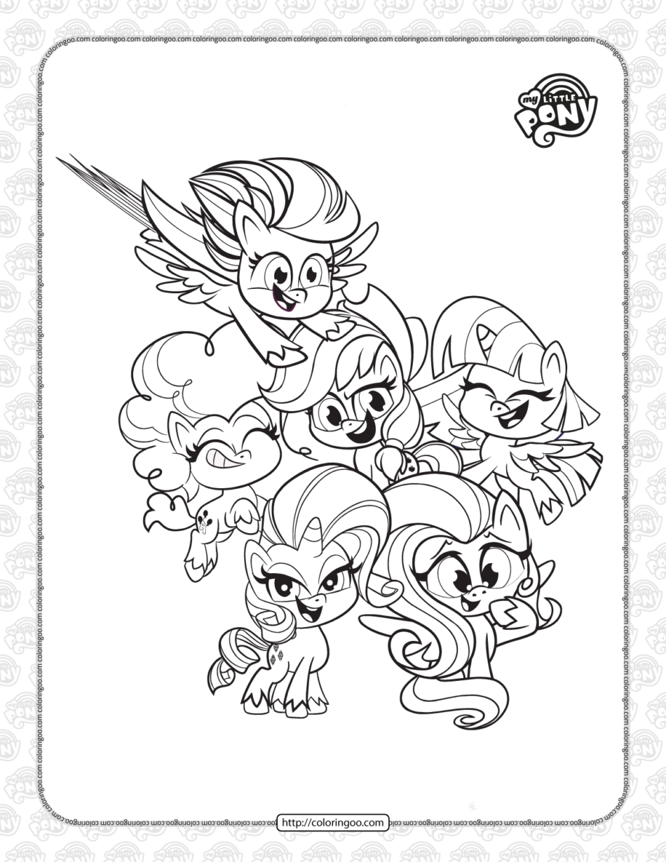 Pony Life The Name Six Pdf Coloring Book