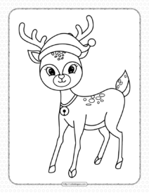 Printable Christmas Reindeer Coloring Pages for Kids