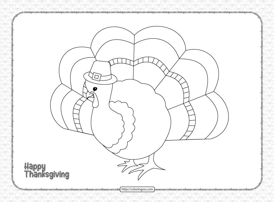 Printable Happy Thanksgiving Pdf Coloring Book