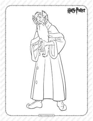 Printable Harry Potter Wizard Coloring Page