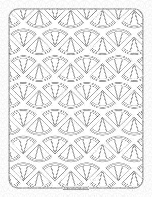Printable Lemon Slices Pdf Coloring Page