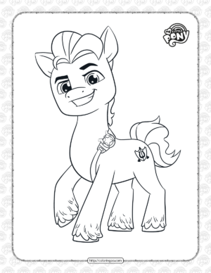 Printable MLP Hitch Trailblazer Coloring Pages