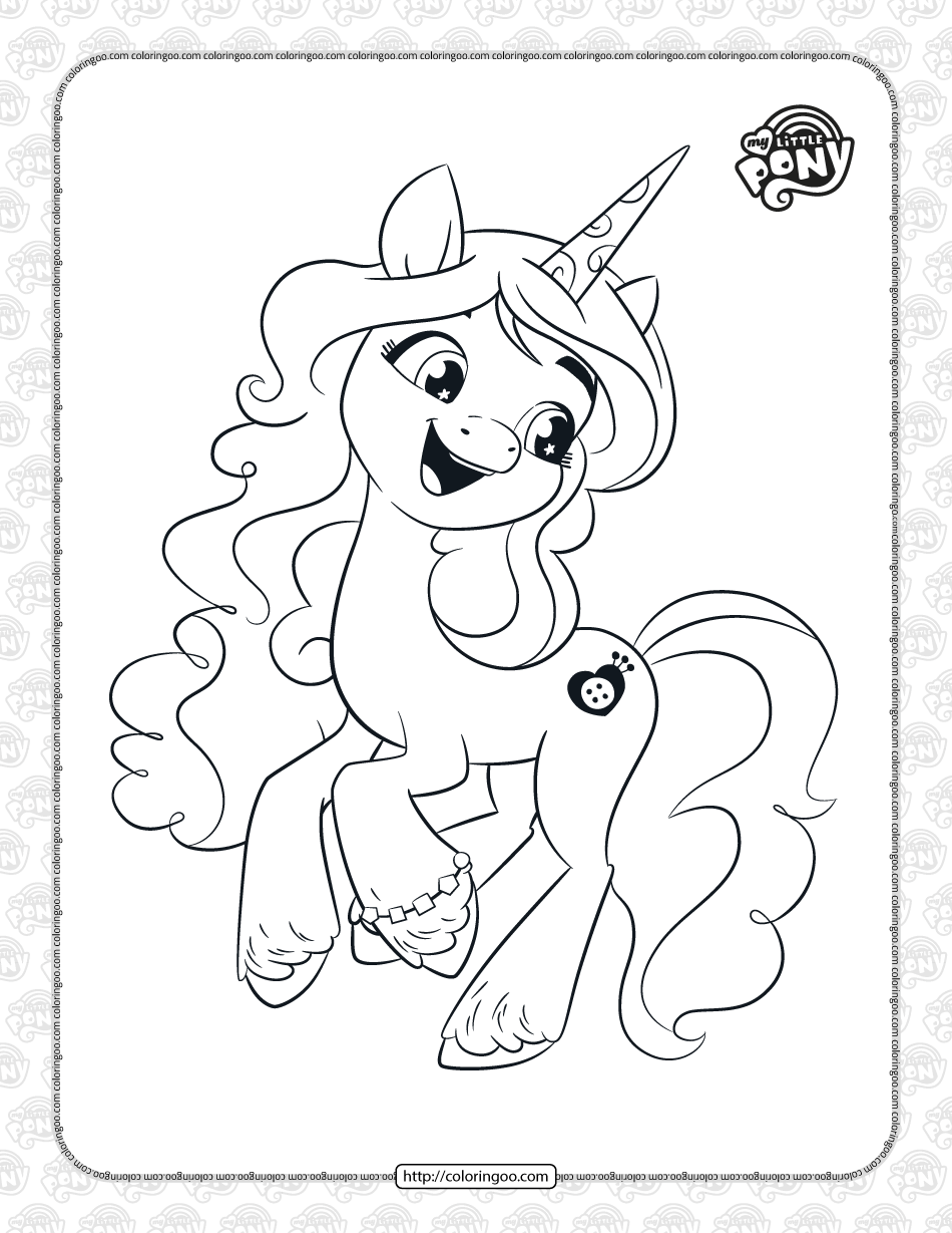 Printable MLP Izzy Moonbow Coloring Pages