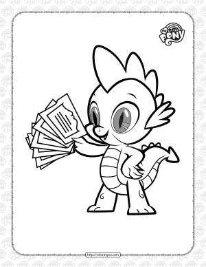 Printable MLP Spike The Dragon Pdf Coloring Book