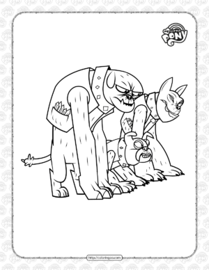 Printable MLP The Diamond Dogs Coloring Page