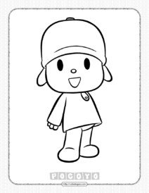 Printable Pocoyo Coloring Pages for Kids