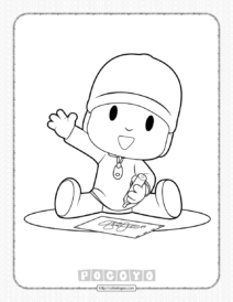 Printable Pocoyo Drawing Pato Coloring Page