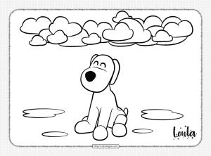 Printable Pocoyo Loula Pdf Coloring Page