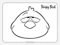 Printable Pocoyo Sleepy Bird Pdf Coloring Page
