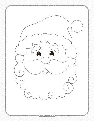 Printable Santa Claus Head Coloring Pages