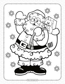 Printable Santa Claus Pdf Coloring Book