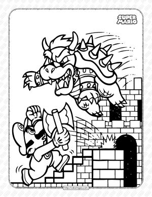 Printable Super Mario and Bowser Coloring Book