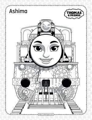Printables Thomas and Friends Ashima Coloring Page