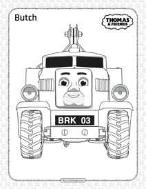 Printables Thomas and Friends Butch Coloring Page