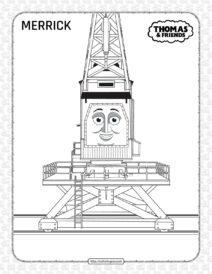 Printables Thomas and Friends Merrick Coloring Page