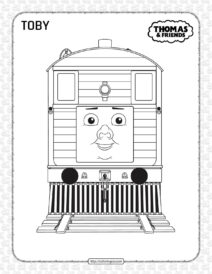 Printables Thomas and Friends Toby Coloring Page