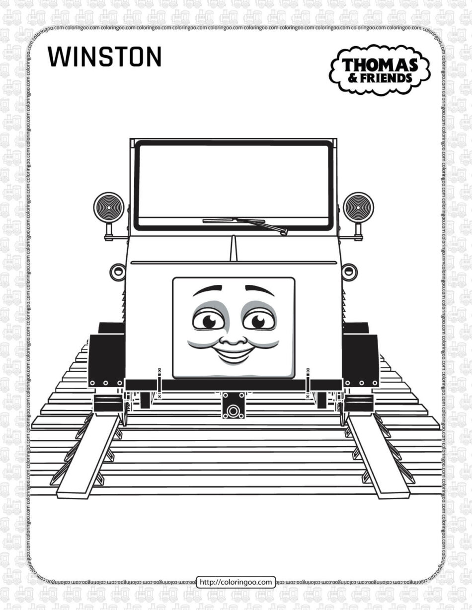 Printables Thomas and Friends Winston Coloring Page