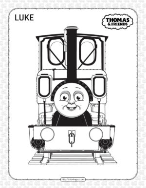 Printables Thomas and Friends Luke Coloring Page