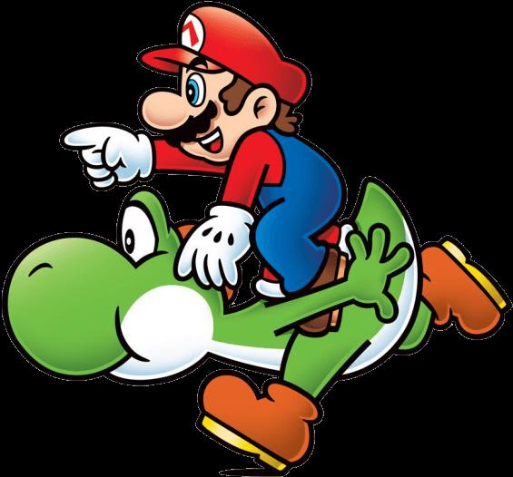 Super Mario and Yoshi Png