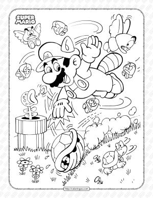 Super Mario Bros Pdf Coloring Book for Kids