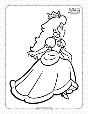 Super Mario Princess Peach Pdf Coloring Book