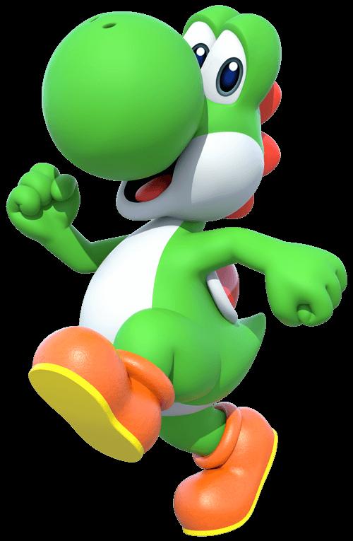 Free Super Mario Yoshi Coloring Page