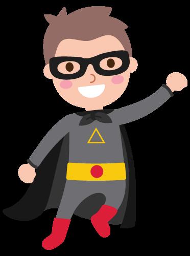 Boy Wearing Superhero Costume Pdf Coloring Page