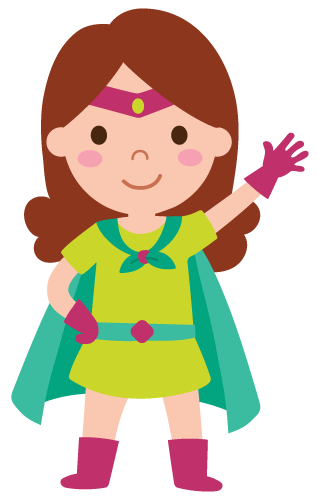 Girl Wearing Superhero Costume Coloring Pages
