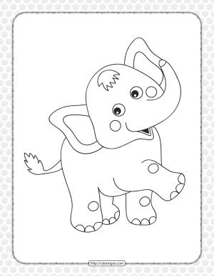 Circus Elephant Pdf Coloring Page