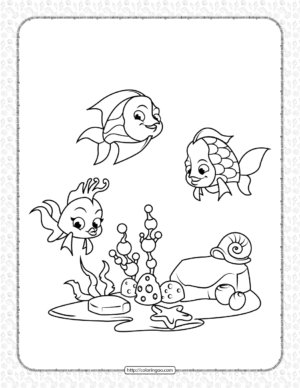 Coral Reef Fish Coloring Page for Kids