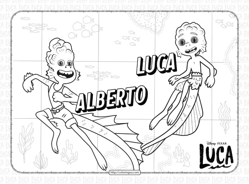 Disney Luca and Alberto Coloring Pages