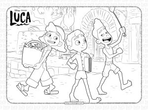 Disney Luca and Alberto Coloring Sheet