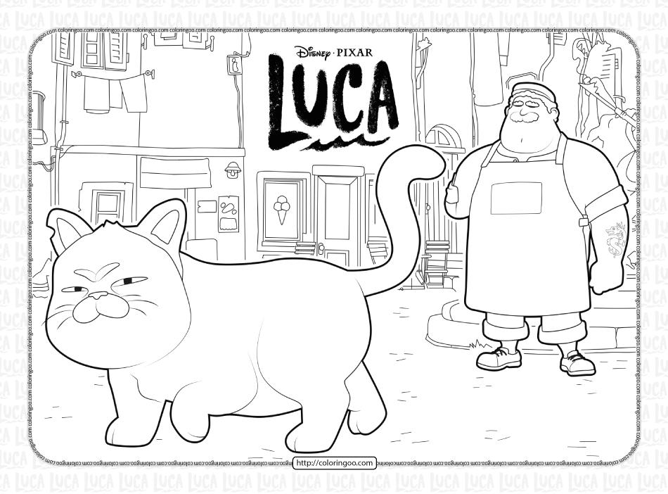 Disney Luca and Alberto Coloring Book