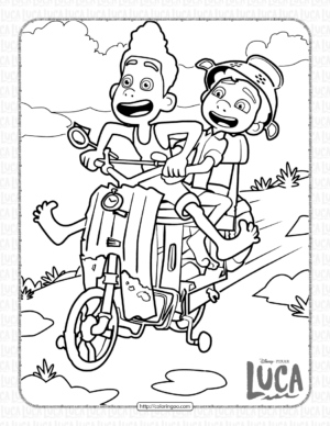 Disney Luca Pdf Coloring Pages