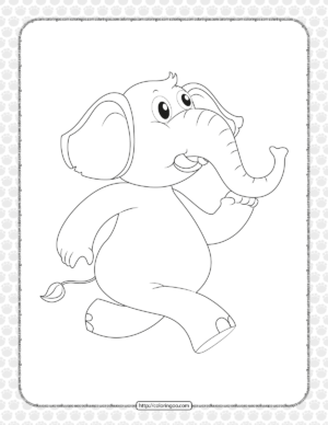 Doodle Animal for Elephant Coloring Page
