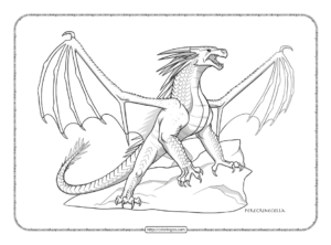 Dragon Icewing Variant 2 Coloring Page