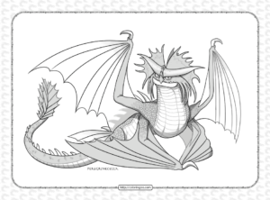 Dragon Stormcutter Base Coloring Page