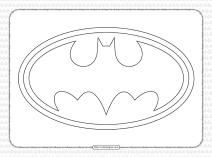 Free Batman Logo Outline Pdf Worksheet