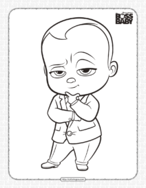 Free Boss Baby Pdf Coloring Book