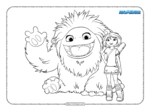 Free Printable Abominable Pdf Coloring Book