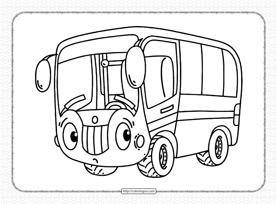 Free Printable Bus Coloring Page for Boys