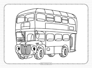 Free Printable Bus Coloring Page for Kids