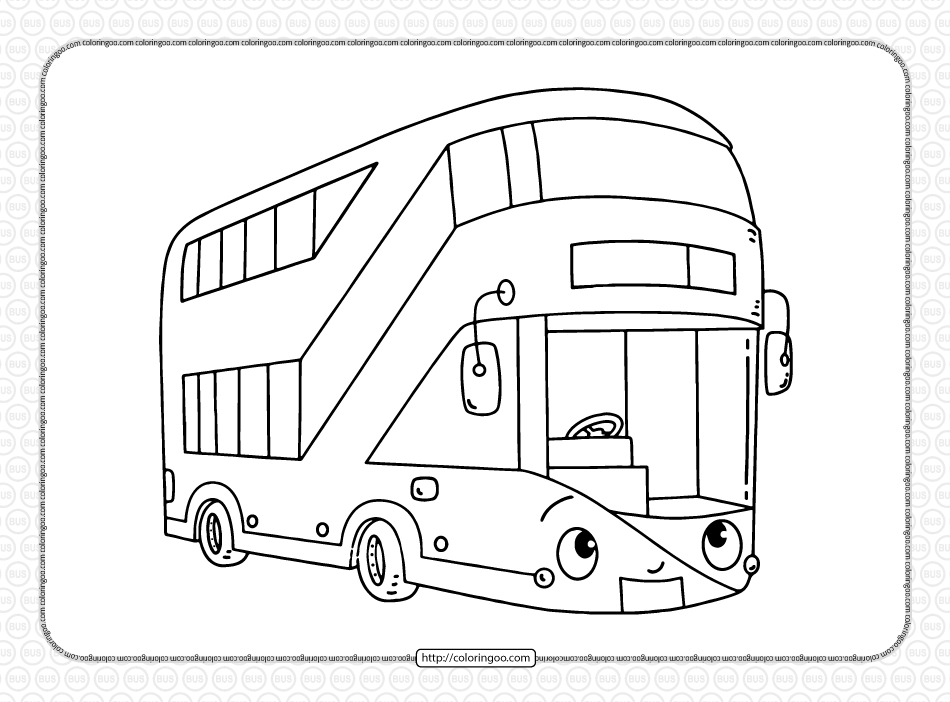 Free Printable Double-decker Bus Coloring Page