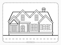 Free Printable Family House Coloring Page