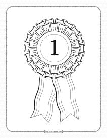 Free Printable First Place Rosette Ribbon Pdf Sheet