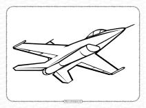 Free Printable Jet Pdf Coloring Page