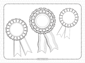 Free Printable Pdf Blank Award Rosette Ribbons