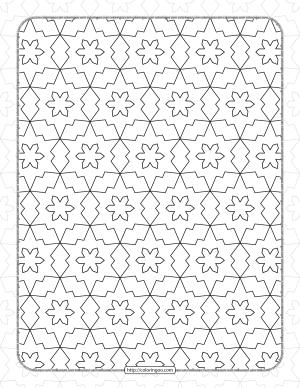 Free Printable Pdf Geometric Pattern 038