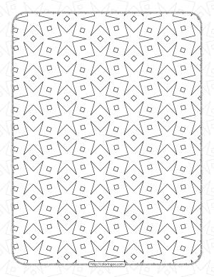 Free Printable Pdf Geometric Pattern 039