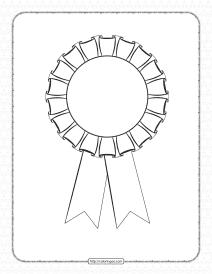 Free Printable Rosette Outline Worksheet